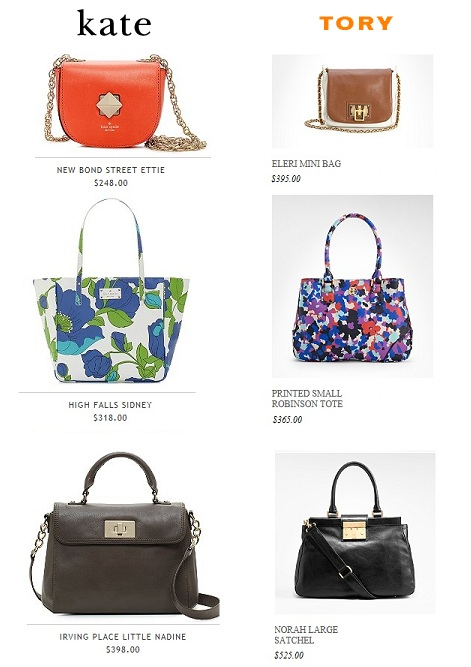 Kate vs. Tory: Compare the Handbags