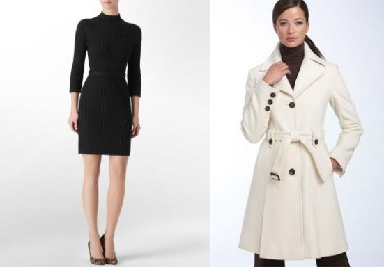 Calvin Klein Dress--$40, DKNY Coat--$198