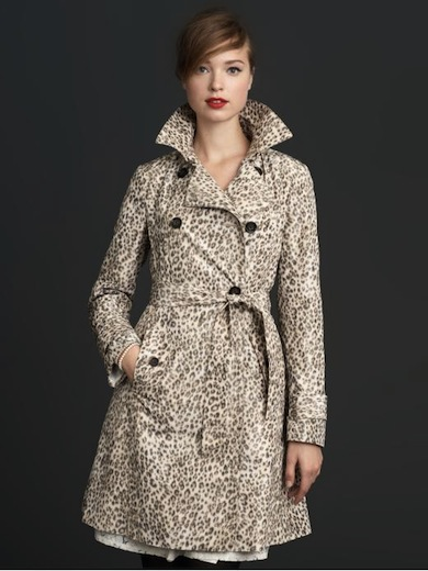 BR Mad Men leopard trench coat- saved by chicncheapliving